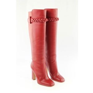 Valentino Garavani Red Leather Boots New w/Box
